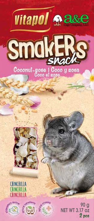 A&E Cage Company Smakers Coconut-Rose Sticks for Chinchillas