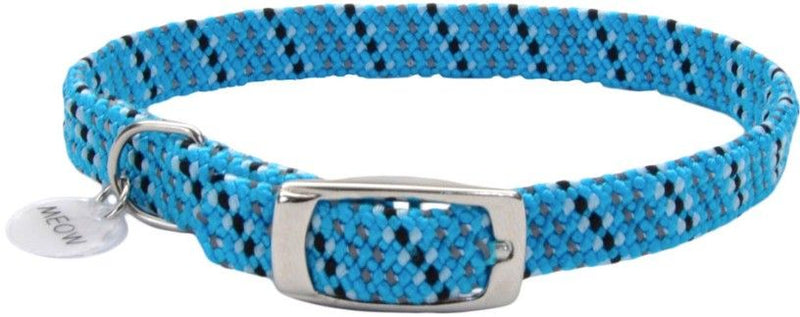 Coastal Pet Elastacat Reflective Safety Collar with Charm Blue/Black