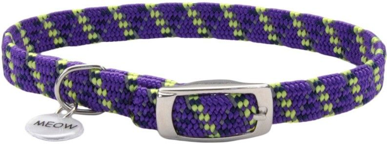 Coastal Pet Elastacat Reflective Safety Collar with Charm Purple