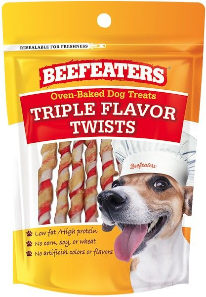 Beafeaters Oven Baked Triple Flavor Twists Dog Treat