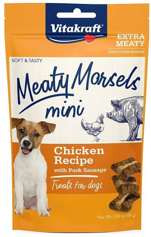 Vitakraft Meaty Morsels Mini Chicken Recipe with Pork Sausage Dog Treat