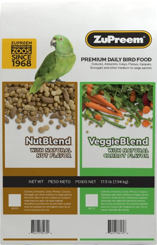 ZuPreem VeggieBlend Flavor Bird Food for Large Birds