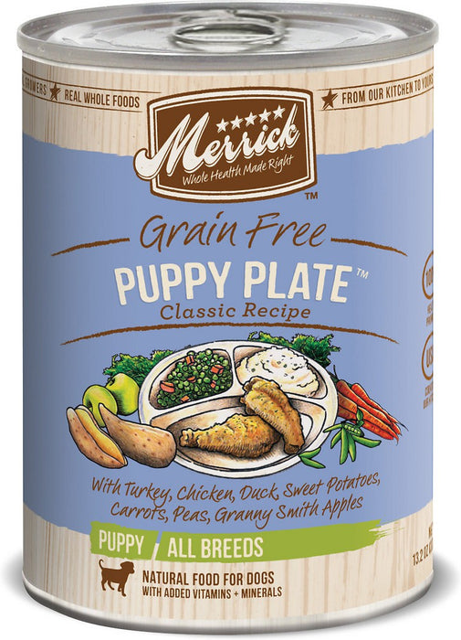 Merrick Puppy Plate 12.7oz 12 Count Case