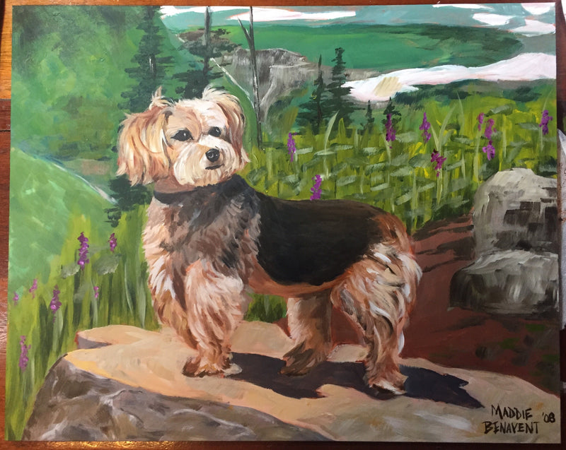 Custom Pet Portrait (Hand Painted)