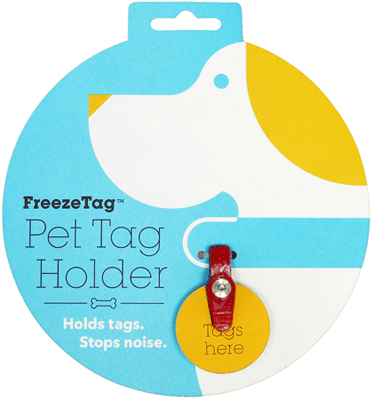 FREEZE TAG Pet Tag Silencer - Red