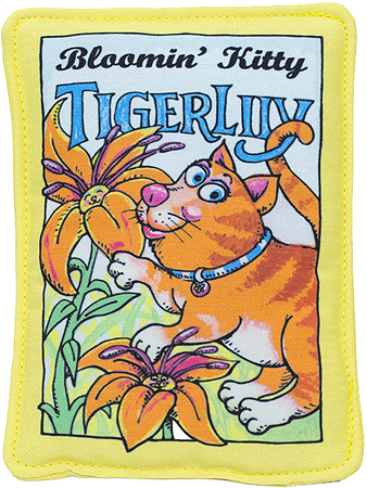 FUZZU Tiger Lily Seed Packet Cat Toy