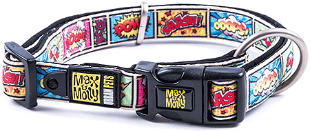 MAX&MOLLY Dog Collar - Comic S 11-17""