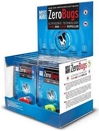 MAX&MOLLY ZeroBugs Ultrasonic Tick and Flea Repeller - 12ct Display