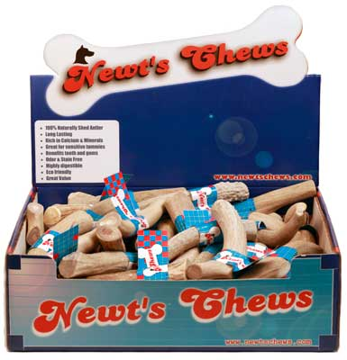 NEWTS CHEWS Original Antler Medium 40ct Display