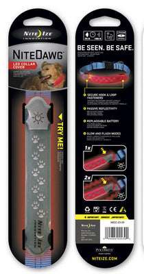 NITE IZE Nite Dawg LED Collar Cover Grey