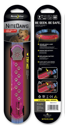 NITE IZE Nite Dawg LED Collar Cover Pink