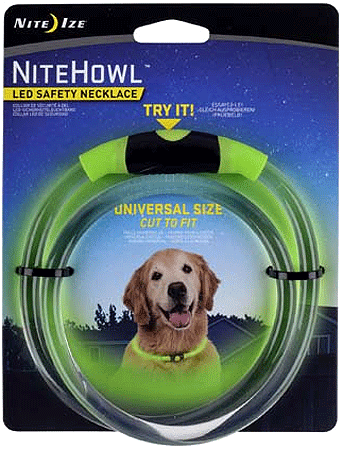 NITE IZE NiteHowl LED Safety Necklace Green