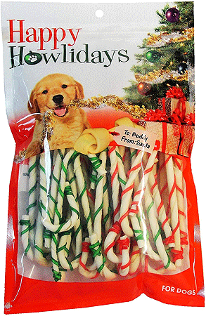 PET FACTORY Rawhide Holiday Canes 5 30pk