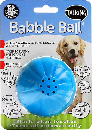 PET QWERKS Talking Babble Ball Large