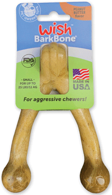 PET QWERKS Wish BarkBone Peanut Butter S