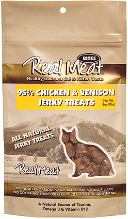 REAL MEAT Cat Treats Chicken Venison 3oz