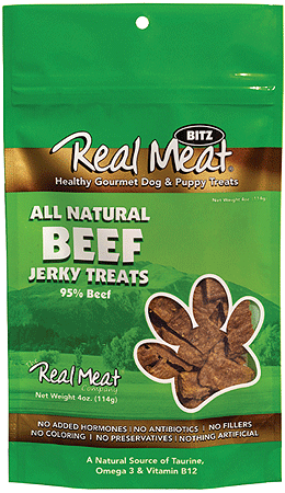 REAL MEAT Treats Beef 4oz