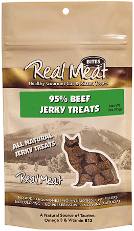 REAL MEAT Cat Treats Beef 3oz