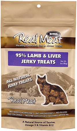 REAL MEAT Cat Treats Lamb Liver 3oz