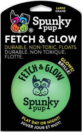 SPUNKY PUP Fetch and Glow Ball L