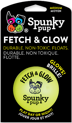 SPUNKY PUP Fetch and Glow Ball M