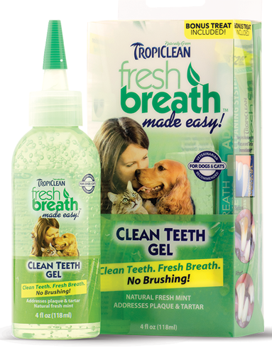 TROPICLEAN FreshBreath Clean Teeth Gel Kit 4oz