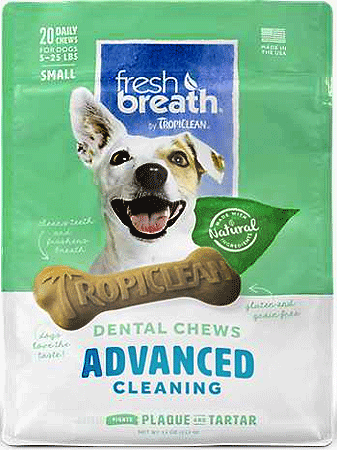 TROPICLEAN Fresh Breath Dental Chews Advanced Cleaning Small 20ct