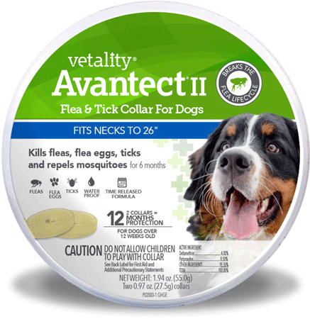 VETALITY Avantect II Flea andTick Dog Collar 26in