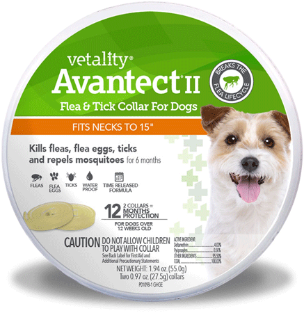 VETALITY Avantect II Flea andTick Dog Collar 15in