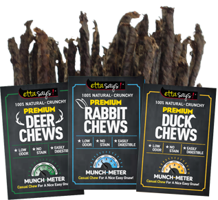 ETTA SAYS Premium Crunchy Chews Deer 3ft 18ct Bulk