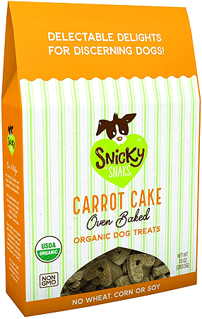 SNICKY SNAKS Baked Organic Treats Carrot 10oz