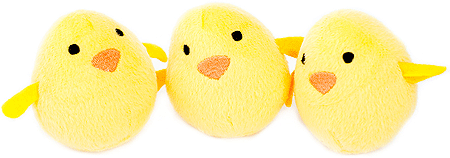 ZIPPYPAWS Zippy Miniz 3-Pack Chicks