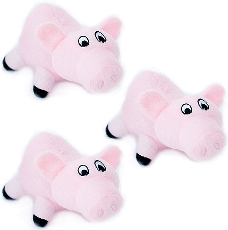 ZIPPYPAWS Zippy Miniz 3-Pack Pigs