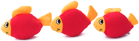 ZIPPYPAWS Zippy Miniz 3-Pack Fish