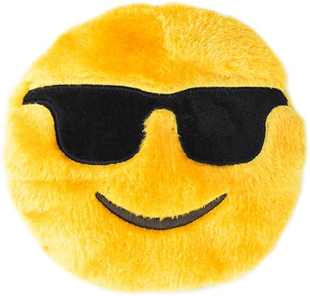 ZIPPYPAWS Squeakie Emojiz - Cool Dude