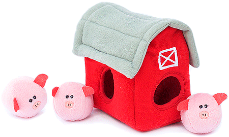 ZIPPYPAWS Zippy Burrow Pig Barn w/Bubble Babies