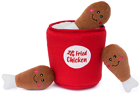 ZIPPYPAWS Zippy Burrow Bucket of Chicken
