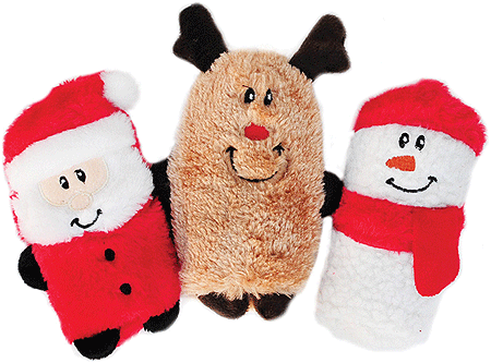 ZIPPY PAWS Holiday Squeakie Buddies 3pk