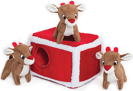 ZIPPY PAWS Holiday Zippy Burrow - Reindeer Pen