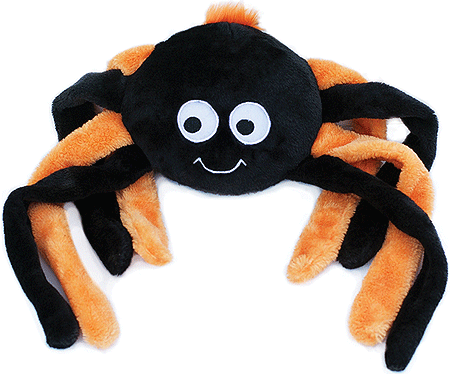 ZIPPY PAWS Halloween Grunterz - Orange Spider