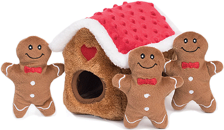 ZIPPY PAWS Holiday Zippy Burrow Gingerbread House