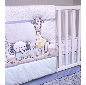 Sammy and Lou Safari Yearbook 4 Piece Crib Bedding Set