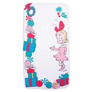 Cindy Lou Who Flannel Photo Op Fitted Crib Sheet