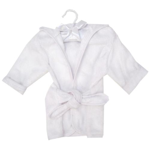 Color Terry Infant Robe - White