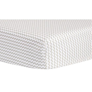 Dove Gray Chevron Fitted Crib Sheet