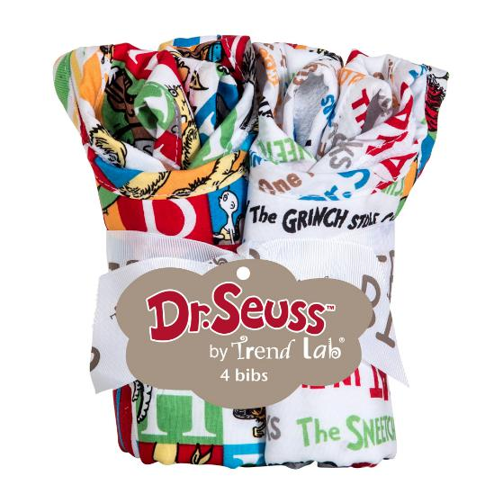Dr. Seuss Alphabet Seuss 4 Pack Bib Set