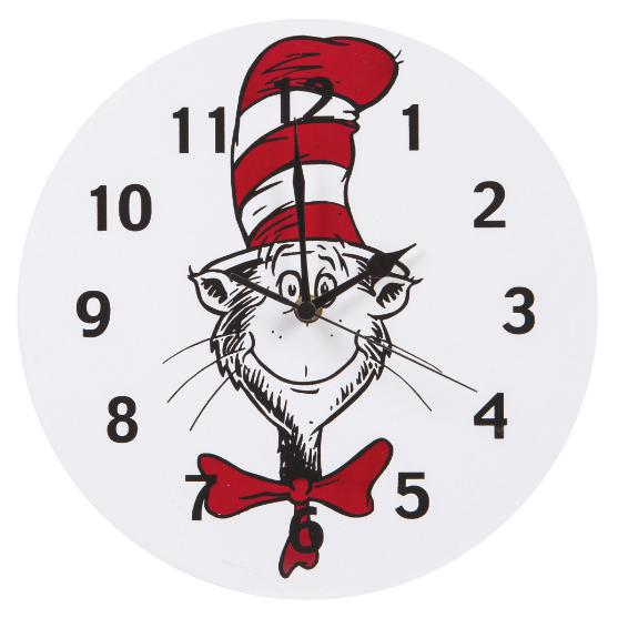 Dr. Seuss Cat in the Hat Circle Wall Clock