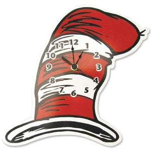 Dr. Seuss Cat in the Hat - Hat Shaped Wall Clock