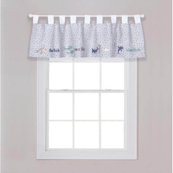 Dr. Seuss New Fish Window Valance