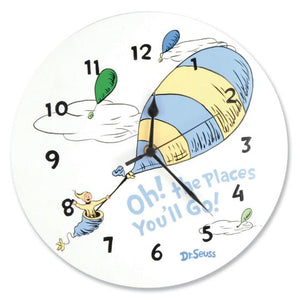 Dr. Seuss Oh, the Places You'll Go! Blue Wall Clock